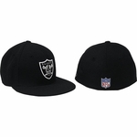 Oakland Raiders Black Fitted Sideline Cap