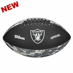 Oakland Raiders Black & Grey Camo Football