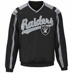 Oakland Raiders Black Heavy Hitter Pullover