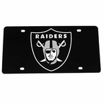 Oakland Raiders Black Laser Engraved Tag
