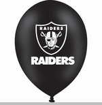 Oakland Raiders Black Latex Balloon
