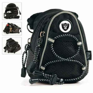Oakland Raiders Black Mini Daypack - Click to enlarge