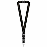 Oakland Raiders Black on Black Logo Lanyard