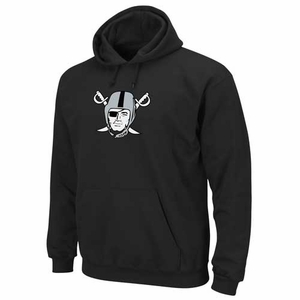 Oakland Raiders Black Pirate Logo Tech Fleece - Click to enlarge