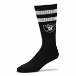 Oakland Raiders Black Retro Tube Sock