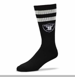 Oakland Raiders Black Retro Tube Sock 11-13