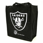 Oakland Raiders Black Reusable Bag