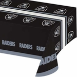 Oakland Raiders Black Tablecloth