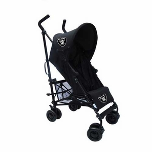 Oakland Raiders Black Umbrella Baby Stroller - Click to enlarge