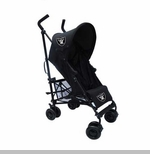 Oakland Raiders Black Umbrella Baby Stroller