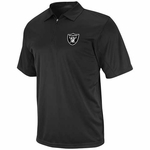 Oakland Raiders Black Zip Tech Synthetic Polo