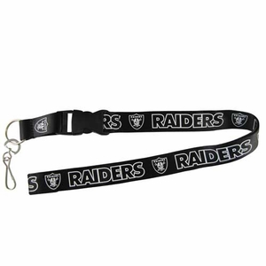 Oakland Raiders Blackout Lanyard - Click to enlarge
