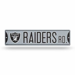Oakland Raiders Bling Plastic Street Sign
