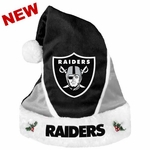 Oakland Raiders Blocked Santa Hat