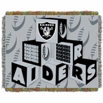 Oakland Raiders Blocks Baby Blanket