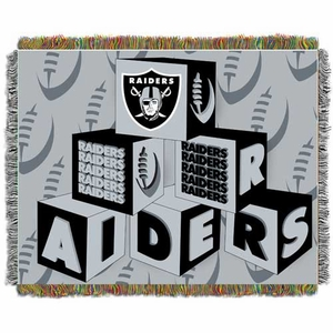 Oakland Raiders Blocks Baby Blanket - Click to enlarge