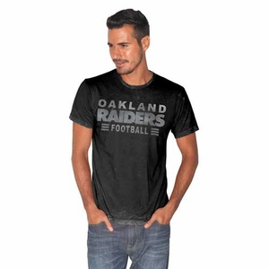 Oakland Raiders Boone Mineral Wash Short Sleeve Tee - Click to enlarge
