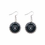 Oakland Raiders Bottle Cap Earrings