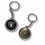 Oakland Raiders Bottle Cap Keychain
