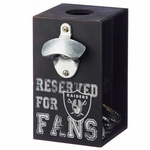 Oakland Raiders Bottle Opener Cap Caddy