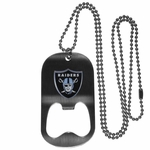 Oakland Raiders Bottle Opener Necklace