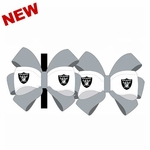 Oakland Raiders Bow Hair Clip