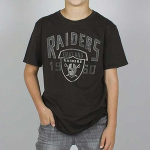Oakland Raiders Boy Kick Off Crew Tee - Click to enlarge