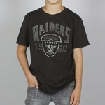 Oakland Raiders Boy Kick Off Crew Tee