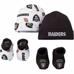 Oakland Raiders Boy's Cap and Bootie Set