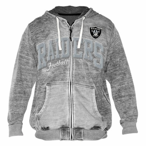 Oakland Raiders Brady Full Zip Hoody - Click to enlarge