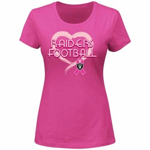 Oakland Raiders Breast Cancer Awareness Pink Splash II Tee - Click to enlarge