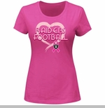 Oakland Raiders Breast Cancer Awareness Pink Splash II Tee