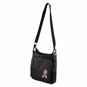 Oakland Raiders Breast Cancer Awareness Sheen Cross Bag - Click to enlarge