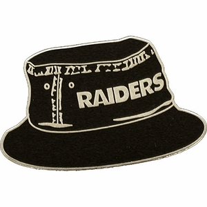 Oakland Raiders Bucket Hat Lapel Pin - Click to enlarge