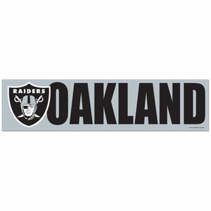 Oakland Raiders Bumper Sticker - Click to enlarge