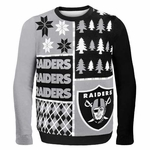 Oakland Raiders Busy Block Sweater
