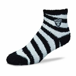 Oakland Raiders Candy Cane Stripe Sleepsoft 9-11 Sock