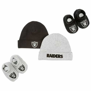 Oakland Raiders Cap and Bootie Set - Click to enlarge