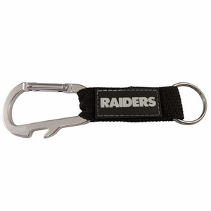 Oakland Raiders Carabineer Keychain - Click to enlarge