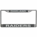 Oakland Raiders Carbon Fiber License Frame