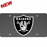 Oakland Raiders Carbon Fiber License Plate