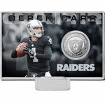 Oakland Raiders Carr Silver Coin Card