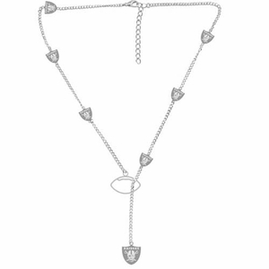 Oakland Raiders Cascading Logo Necklace - Click to enlarge