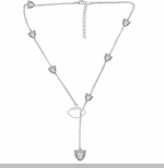 Oakland Raiders Cascading Logo Necklace