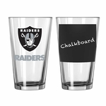 Oakland Raiders Chalkboard Pint