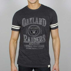 Oakland Raiders Charcoal Tailgate Tee - Click to enlarge