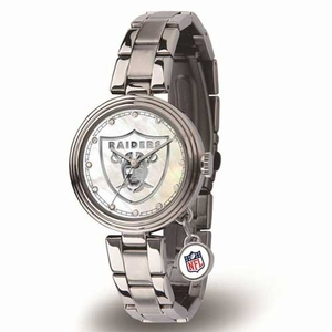 Oakland Raiders Charm Ladies Watch - Click to enlarge