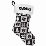 Oakland Raiders Checkers Stocking