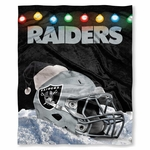 Oakland Raiders Christmas Silk Touch Throw