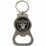 Oakland Raiders Chrome Bottle Opener Key Chain